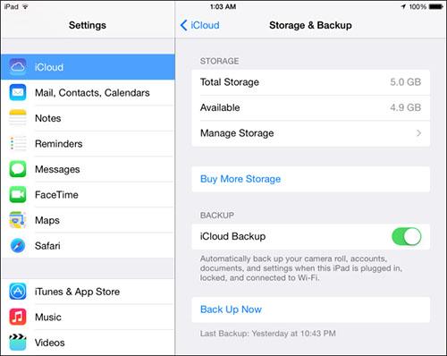 Free Up iCloud Storage Space scr1