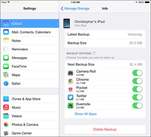 Free Up iCloud Storage Space scr3